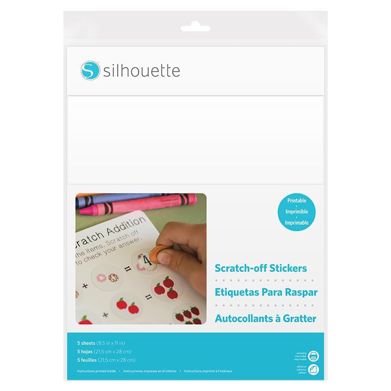 Silhouette Scratch-off stickers, Printbar vit (bläckstråleskrivare)