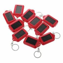 Nyckelring med LED-Belysning ( 3 led ) och solcellsladdning