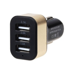 Universal 3 Port USB Car Quick Charger Adapter