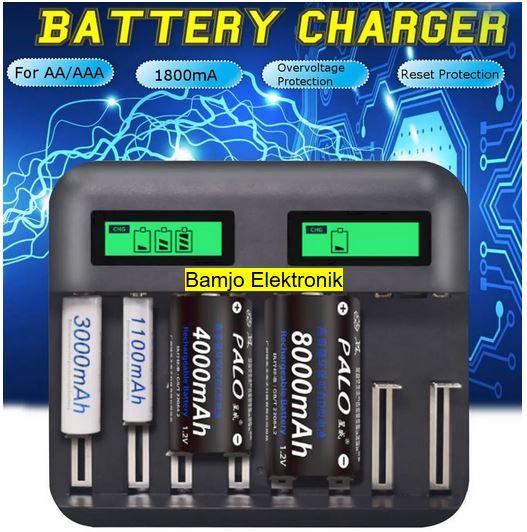 USB Laddare AA AAA C D  Batterier