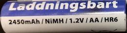 Laddbart AA Batteri 2450 mAh