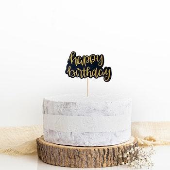 Tårtdekoration - Happy  Birthday