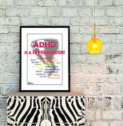 Affisch – ADHD is a superpower
