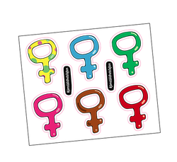 """Klistermärken """"Feministkarta"""""""