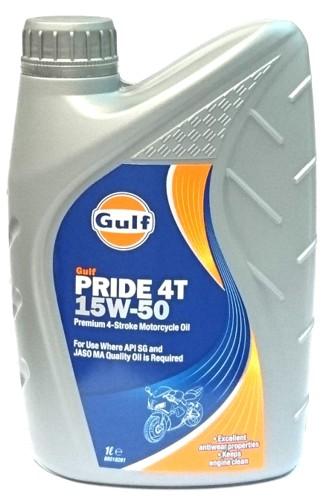 Gulf Pride 4T 15W-50 1 liter