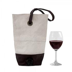 Oscar Borgström BAGFORBOX Vin Bag i rå vaxad canvas