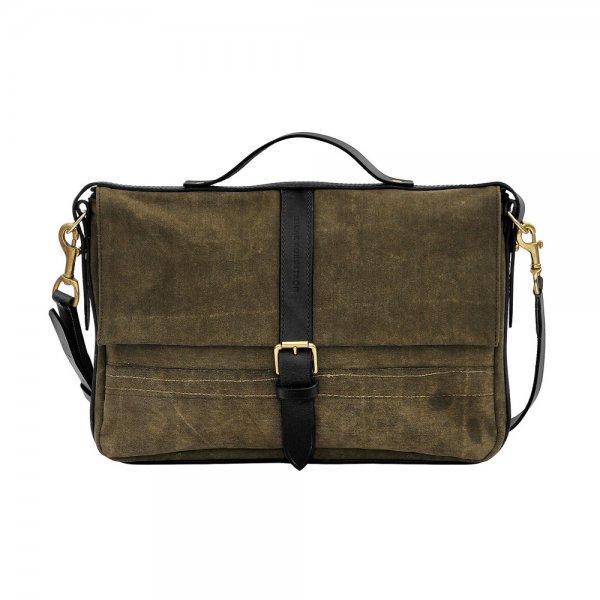 Oscar Borgström Laptop Bag Datorväska 29x43x4cm vintage canvas svart läder