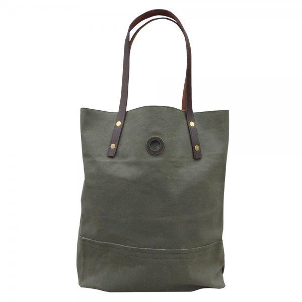 Oscar Borgström Hipster Bag Tote väska 40x32x7cm vaxad canvas Grey-Green