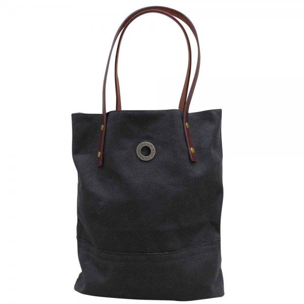 Oscar Borgström Hipster Bag Tote väska 40x32x7cm vaxad canvas Black