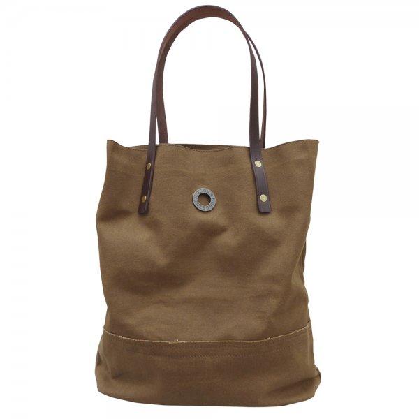 Oscar Borgström Hipster Bag Tote väska 40x32x7cm vaxad canvas Brown Umbra