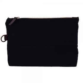Oscar Borgström Atlantic Toiletry Bag Necessär vaxad canvas Black