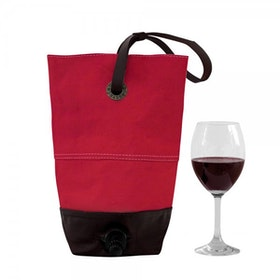 Oscar Borgström BAGFORBOX Vin Bag vaxad canvas/läder Röd