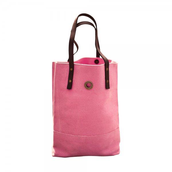 Oscar Borgström Hipster Bag Tote bärväska 40x32x7cm vaxad canvas Pink