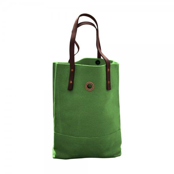 Oscar Borgström Hipster Bag Tote bärväska 40x32x7cm vaxad canvas Green
