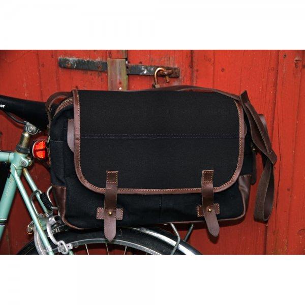 Oscar Borgström Hemingway MK II Messenger Bag vaxad canvas Black