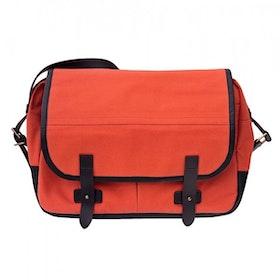 Oscar Borgström Hemingway MK II Messenger Bag vaxad canvas Orange