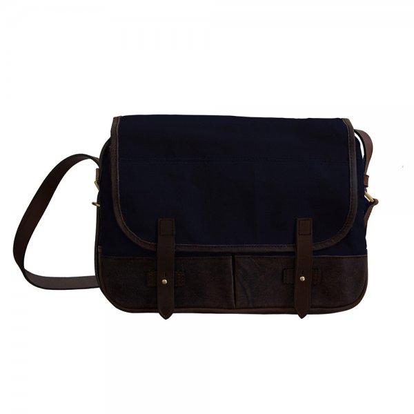 Oscar Borgström Hemingway MK II Messenger Bag vaxad canvas Blue
