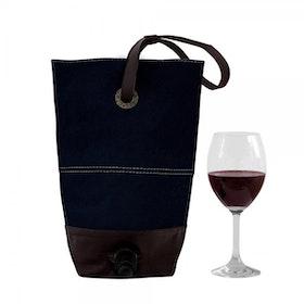 Oscar Borgström BAGFORBOX Vin bag vaxad canvas/läder Blå