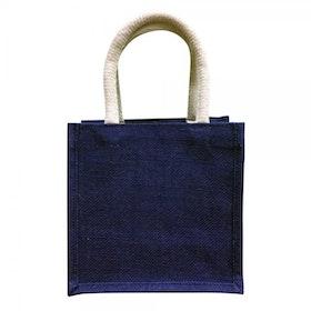 Oscar Borgström Mindre Bag Väska i Jute 20x20x12cm Blå