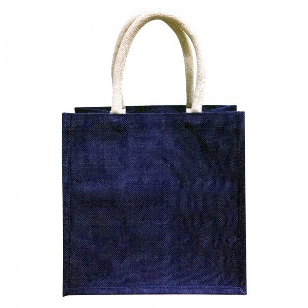 Oscar Borgström Större Bag Väska i Jute 30x30x18cm Blå