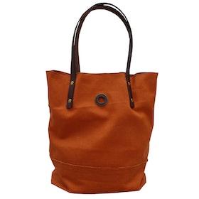 Oscar Borgström Hipster Bag Tote väska 40x32x7cm vaxad canvas Orange