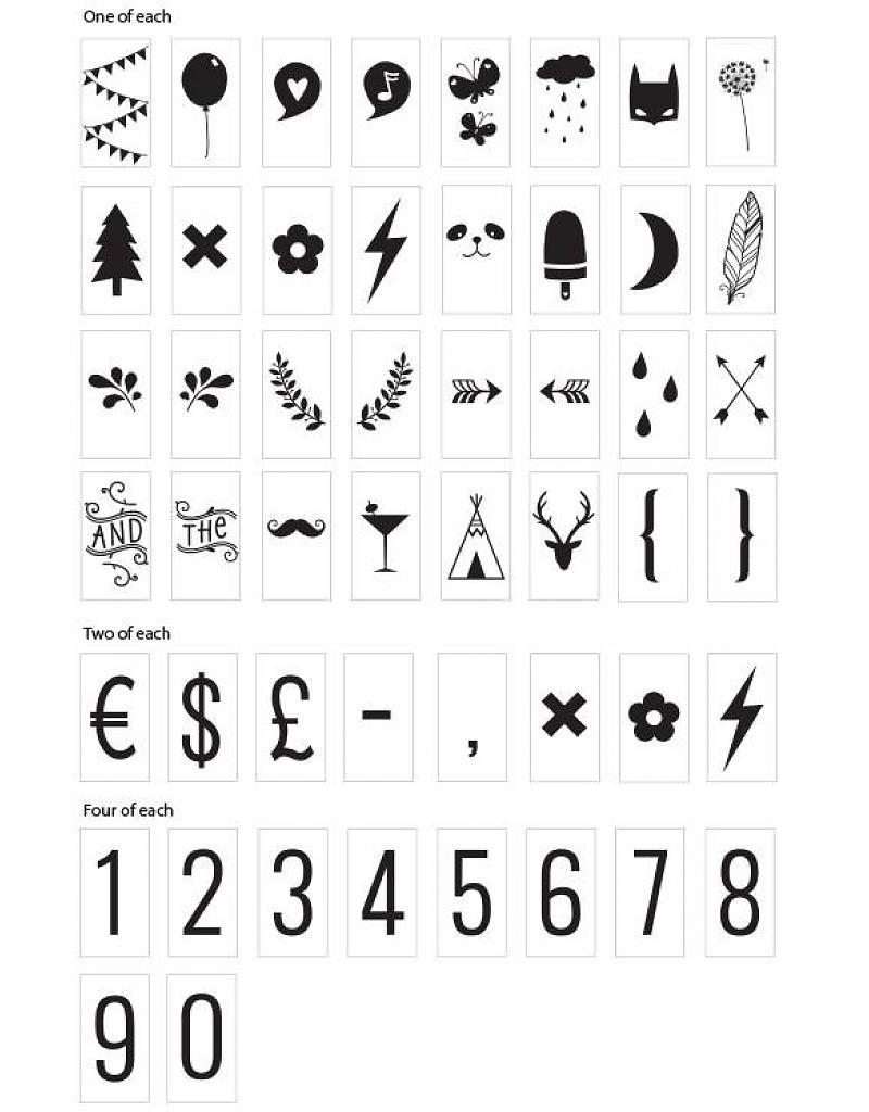 Symbolset till A4 & A5 Lightbox