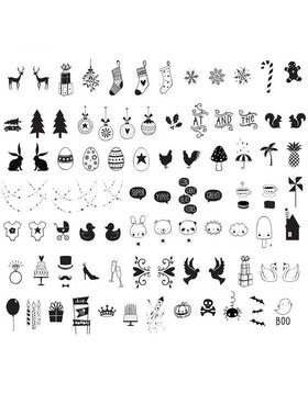 Lightbox Celebrations symbolset till A4 & A5