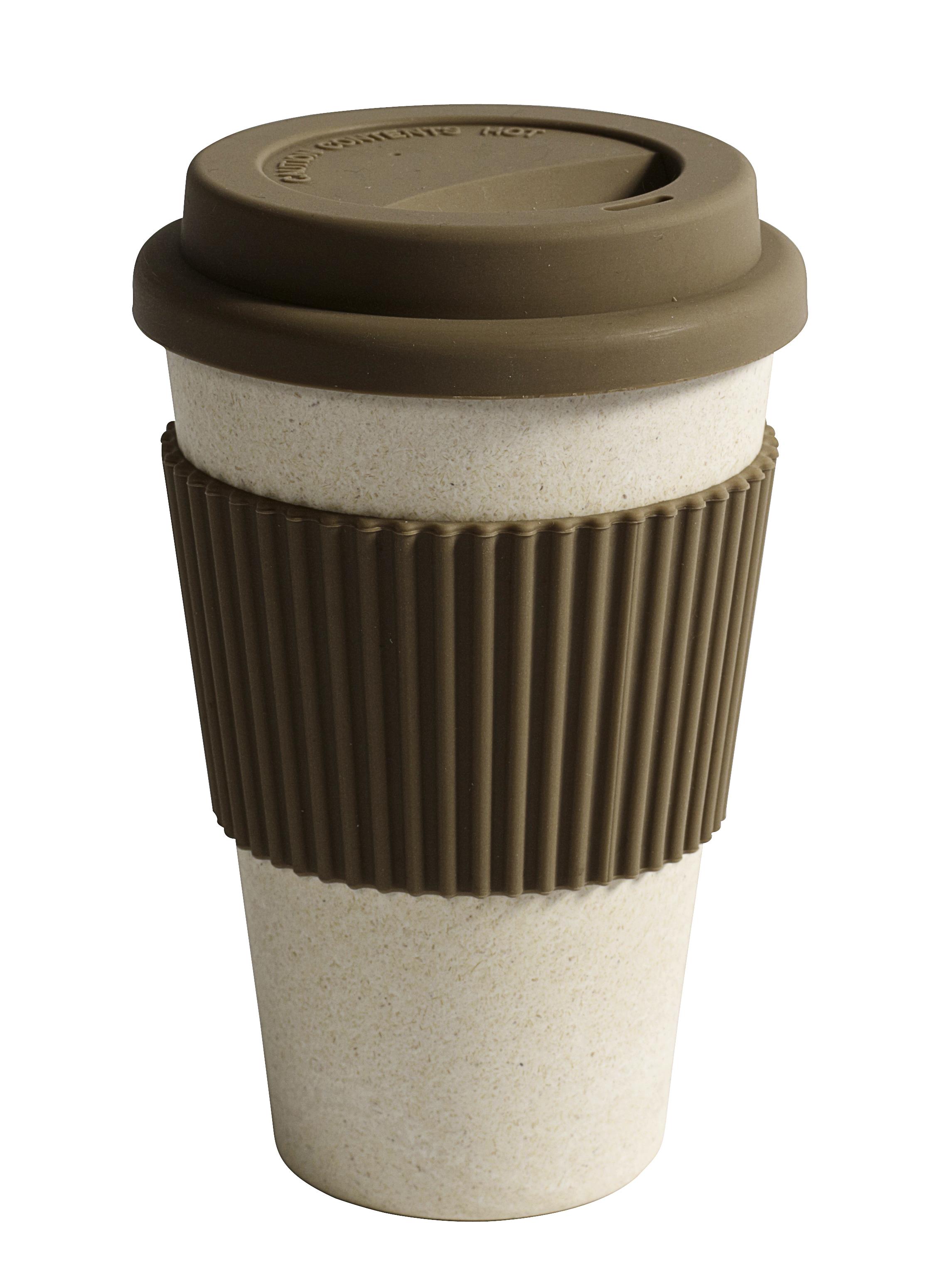 Ekologisk creamfärgad take away bambumugg från danska NORDAL