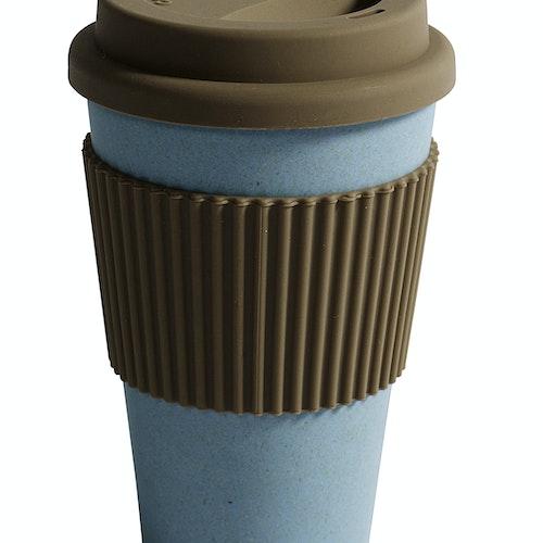 Ekologisk ljusblå take away bambumugg från danska NORDAL
