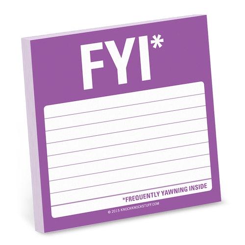 FYI post-it lappar (100 blad) från KNOCK KNOCK