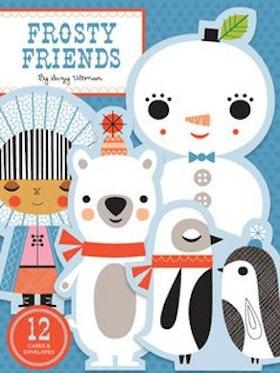 Frosty Friends: 12 st etiketter, kuvert, klistermärken mm. fr Chronicle Books
