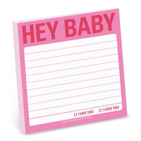 HEY BABY post-it lappar (100 blad) från KNOCK KNOCK