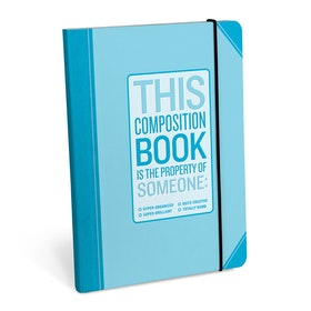 Hyper Organized Composition Notebook / Anteckningsbok - KNOCK KNOCK