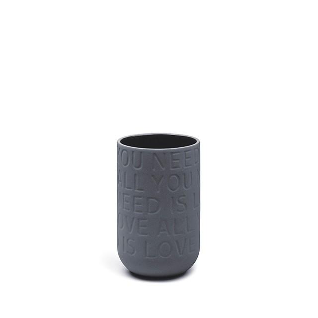 KÄHLER LOVE SONG vas - antracitgrå (H170 mm)