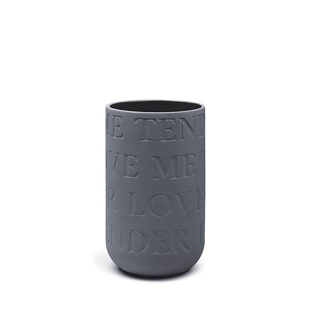 KÄHLER LOVE SONG vas - antracitgrå (H220 mm)