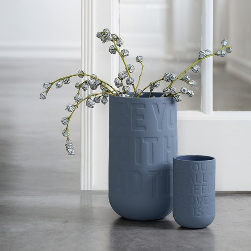 KÄHLER LOVE SONG vas - indigoblå (H170 mm)