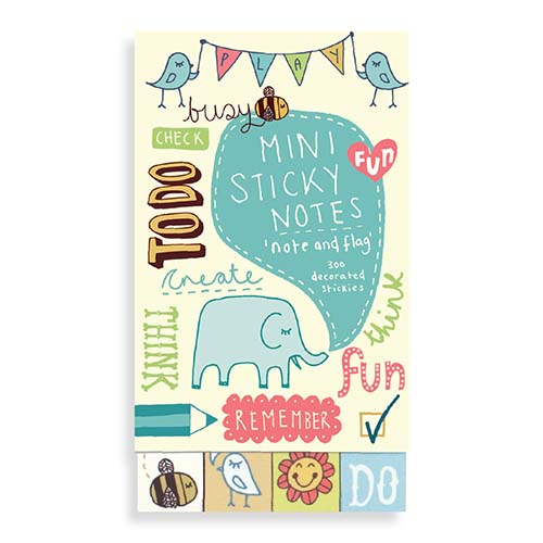 Kate Sutton Note and Flag Mini Sticky Notes (300 st klisterlappar) - GALISON New York