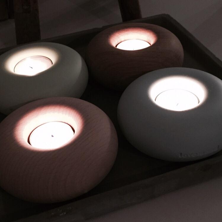 Ljusgrön ljuslykta från danska LOVEWOOD