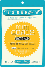 Mini Goals Notepad / Anteckningsbok - Chronicle Books