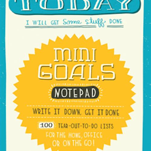 Mini Goals Notepad / Anteckningsbok - Chronicle Books