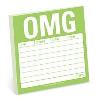 OMG post-it lappar (100 blad) från KNOCK KNOCK
