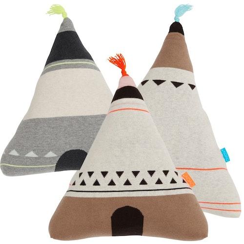 OYOY - Wigwam / indianhydda / indiantält kudde - 2 olika