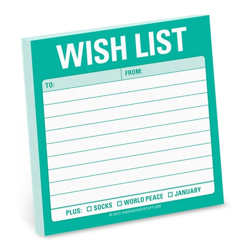 Wish list Sticky Note (Post-It lappar) - KNOCK KNOCK