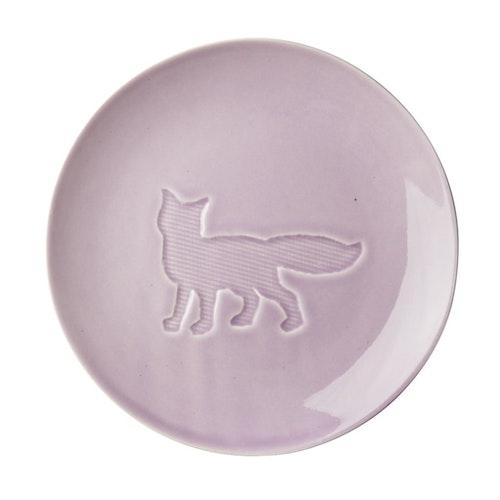 Keramiktallrik - lavendel - med räv (22 cm) från RICE