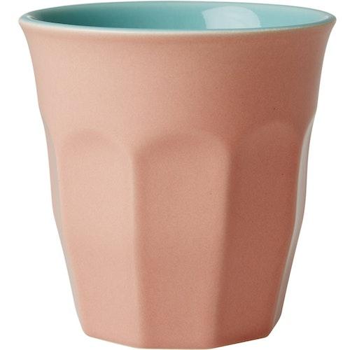 Stor keramikkopp / keramikmugg från RICE - Korall & aqua