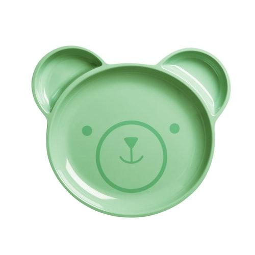 Melamintallrik björn till barn med 3 rum - från RICE