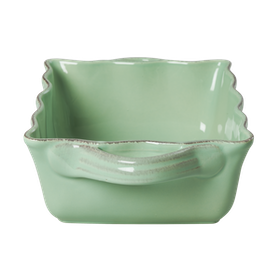Ugnsgryta / ugnsform i stengods (pastellgrön 9 x 20 x 28 cm) - från RICE