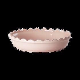 Pajform i stengods (pastellrosa 28 x 5 cm) - från RICE
