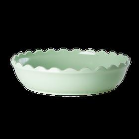 Pajform i stengods (pastellgrön 33 x 6 cm) - från RICE