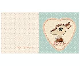Bambi blue dubbelvikt kort / vykort - från MAILEG